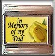 IN MEMORY OF DAD YELLOW ROSE ITALIAN CHARM
