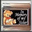 IN MEMORY OF SISTER TEDDY BEAR ITALIAN CHARM CHARMS