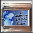 IN MEMORY OF SISTER GUARDIAN ANGEL ITALIAN CHARM