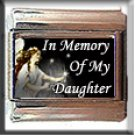 IN MEMORY OF DAUGHTER ITALIAN CHARM CHARMS
