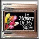 IN MEMORY OF MOM TULIPS ITALIAN CHARM CHARMS