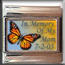 IN MEMORY OF MOM BUTTERFLY ITALIAN CHARM