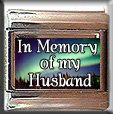 IN MEMORY OF MY HUSBAND AURORA LIGHTS ITALIAN CHARM