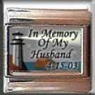 IN MEMORY OF HUSBAND LIGHTHOUSE ITALIAN CHARM