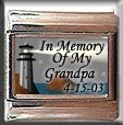 IN MEMORY OF GRANDPA LIGHTHOUSE ITALIAN CHARM