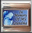 IN MEMORY OF GRANDMA GUARDIAN ANGEL ITALIAN CHARM