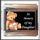 IN MEMORY OF DAUGHTER TEDDYBEAR ITALIAN CHARM