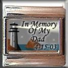 IN MEMORY OF DAD LIGHTHOUSE ITALIAN CHARM