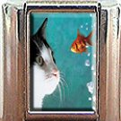 CAT AND FISH ITALIAN CHARM CHARMS