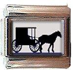 AMISH HORSE BUGGY ITALIAN CHARM