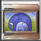 BLUE ELEPHANTS ITALIAN CHARM CHARMS
