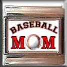 BASEBALL MOM ITALIAN PHOTO CHARM