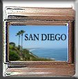 SAN DIEGO PALM TREES ITALIAN PHOTO CHARM