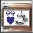 I LOVE MY BOYS ITALIAN CHARM CHARMS