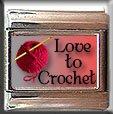 LOVE TO CROCHET ITALIAN CHARM CHARMS