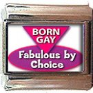 BORN GAY ITALIAN CHARM CHARMS