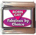 BORN GAY ITALIAN CHARM CHARMS