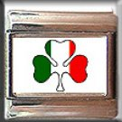 IRISH SHAMROCK ITALIAN CHARM CHARMS