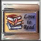 LOVE TO READ BOOKS ITALIAN CHARM CHARMS