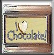 I LOVE CHOCOLATE ITALIAN CHARM CHARMS