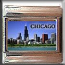 CHICAGO SKYLINE ITALIAN CHARM CHARMS