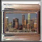 LOS ANGELES SKYLINE ITALIAN CHARM CHARMS