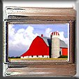 RED BARN AND SILO ITALIAN CHARM CHARMS