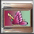 PINK BUTTERFLY ITALIAN CHARM CHARMS