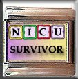 NICU SURVIVOR BABY BLOCKS ITALIAN CHARM CHARMS