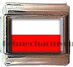 POLAND FLAG ITALIAN CHARM CHARMS