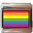 GAY PRIDE FLAG ITALIAN CHARM CHARMS