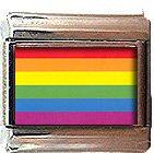 GAY PRIDE FLAG ITALIAN CHARM CHARMS