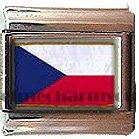 CZECH FLAG ITALIAN CHARM CHARMS