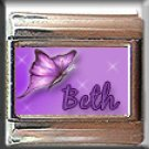 CUSTOM NAME PURPLE BUTTERFLY