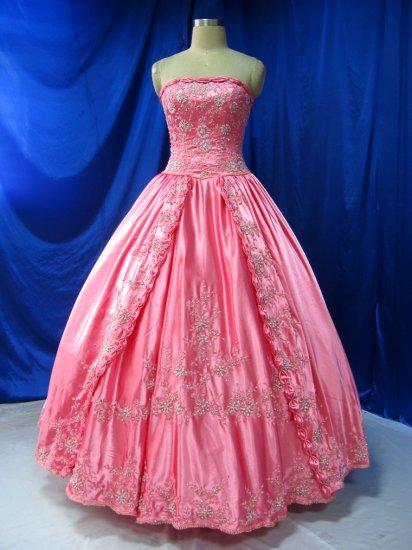 Sexy Satin ball gown Evening dress costom make Quinceanera