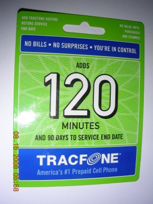 120 min. Tracfone pin code with bonus codes