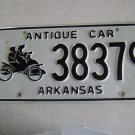 """SOLD"" Arkansas 'Antique Car"" License Plate"