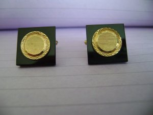 VINTAGE HICKOK ROLLED GOLD CUFF LINKS