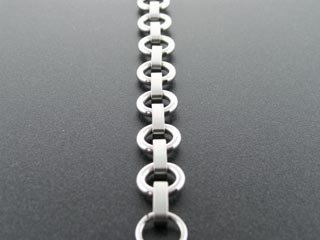 Men's Stainless Steel Round Link Chain Bracelet