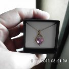 Beautiful Pink Sapphire Diamonds Pendant NEW
