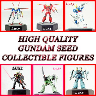 GUNDAM SEED DESTINY High Quality  Anime Luxy Collectibles Set of 6