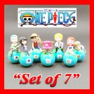 One Piece Pirates Figures Anime Characters Luxy Collectibles Set of 7