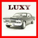 1.24 1966 Chevrolet Chevelle SS396 Maisto Quality Diecast Luxy Collectibles Black