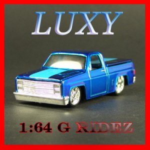 Maisto 1:64 1987 CHEVROLET 1500 CHEVY G RIDEZ Quality Diecast Luxy Dark Blue