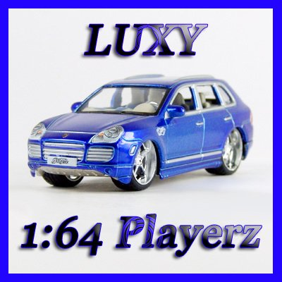Maisto 1:64 PORSCHE CAYENNE TURBO EXCLUSIVE DUB Playerz Diecast Car Luxy Collectible Dark Blue