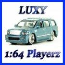 Maisto 1:64 INFINITI Q56 DUB 1:64 Playerz Maisto Diecast Car Model Luxy Gunmetal Dark Green