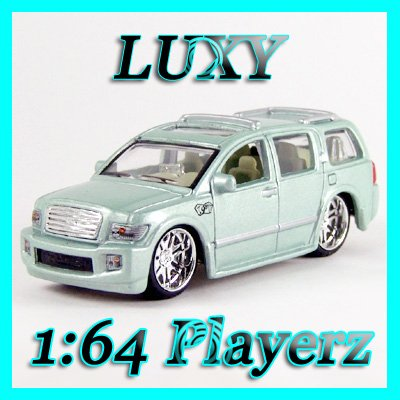 Maisto 1:64 INFINITI Q56 DUB Playerz Diecast Car Model Luxy Collectibles Cream Light Blue