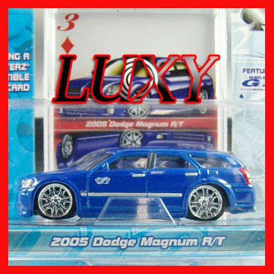 Maisto 1:64 2005 DODGE MAGNUM R/T DUB Playerz Diecast Car Model Luxy Collectibles Dark Blue