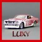 Maisto 1:64 '64 Ford Mustang GT Muscle Pro Rodz Diecast Luxy Red with White Flames 6.1