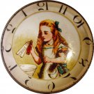 """1 & 3/8"""" Glass Dome Button - AC 6 Drink Me Clock"""